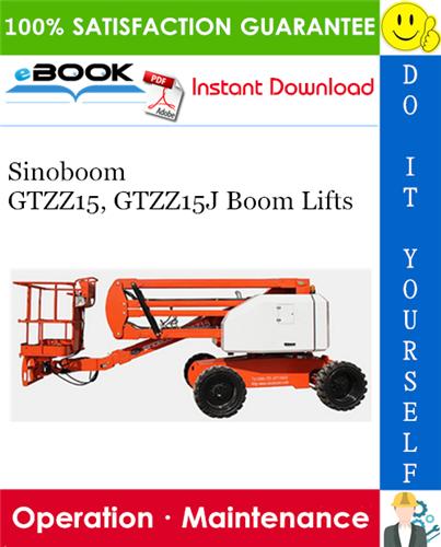 Thumbnail Sinoboom GTZZ15, GTZZ15J Boom Lifts Operation & Maintenance Manual