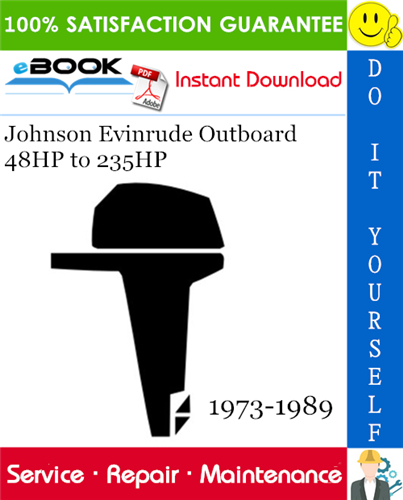 Thumbnail ☆☆ Best ☆☆ Johnson Evinrude Outboard 48HP to 235HP Service Repair Manual 1973-1989 Download
