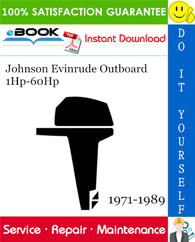 Thumbnail ☆☆ Best ☆☆ Johnson Evinrude Outboard 1Hp-60Hp Service Repair Manual 1971-1989 Download