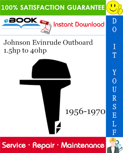 Thumbnail ☆☆ Best ☆☆ Johnson Evinrude Outboard 1.5hp to 40hp Service Repair Manual 1956-1970 Download