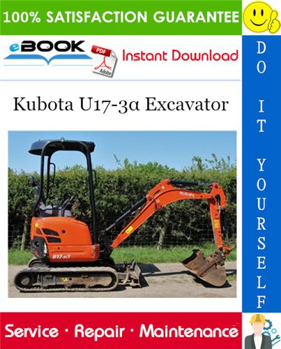 Thumbnail ☆☆ Best ☆☆ Kubota U17-3α Excavator Service Repair Manual