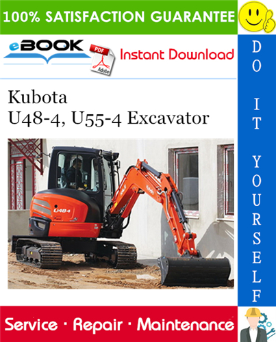 Thumbnail ☆☆ Best ☆☆ Kubota U48-4, U55-4 Excavator Service Repair Manual