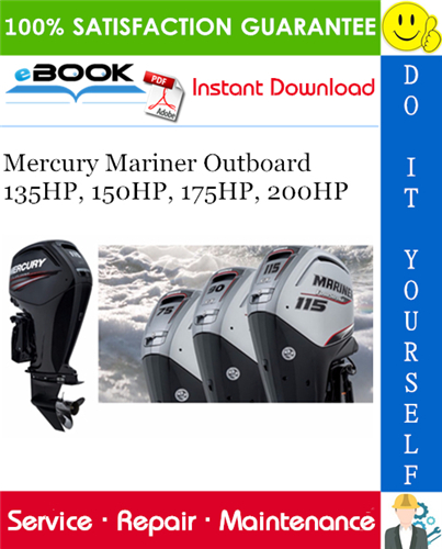 Thumbnail ☆☆ Best ☆☆ Mercury Mariner Outboard 135HP, 150HP, 175HP, 200HP Service Repair Manual