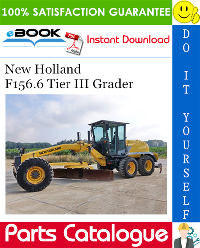 Thumbnail ☆☆ Best ☆☆ New Holland F156.6 Tier III Grader Service Parts Catalogue