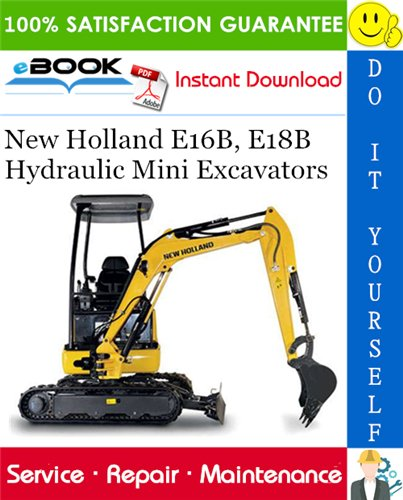 Thumbnail ☆☆ Best ☆☆ New Holland E16B, E18B Hydraulic Mini Excavators Service Repair Manual