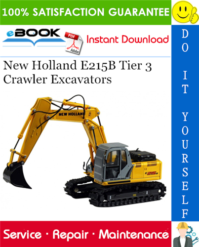 Thumbnail ☆☆ Best ☆☆ New Holland E215B Tier 3 Crawler Excavators Service Repair Manual