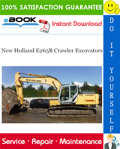 Thumbnail ☆☆ Best ☆☆ New Holland E265B Crawler Excavators Service Repair Manual