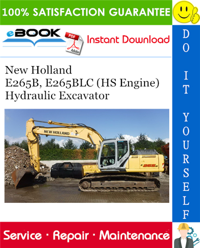 Thumbnail ☆☆ Best ☆☆ New Holland E265B, E265BLC (HS Engine) Hydraulic Excavator Service Repair Manual