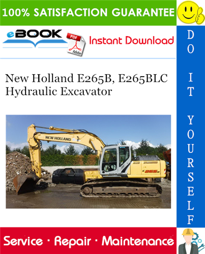 Thumbnail ☆☆ Best ☆☆ New Holland E265B, E265BLC Hydraulic Excavator Service Repair Manual