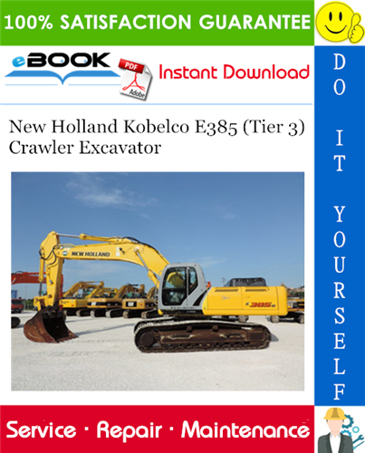 Thumbnail ☆☆ Best ☆☆ New Holland Kobelco E385 (Tier 3) Crawler Excavator Service Repair Manual