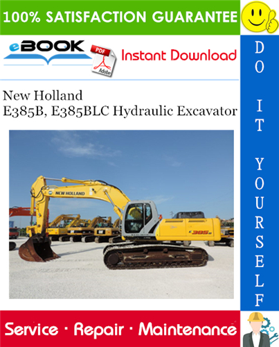 Thumbnail ☆☆ Best ☆☆ New Holland E385B, E385BLC Hydraulic Excavator Service Repair Manual