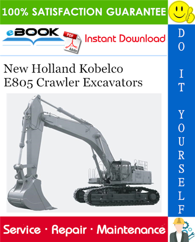 Thumbnail ☆☆ Best ☆☆ New Holland Kobelco E805 Crawler Excavators Service Repair Manual