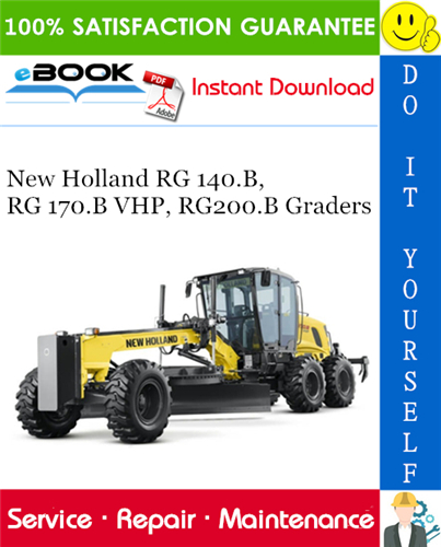 Thumbnail ☆☆ Best ☆☆ New Holland RG 140.B, RG 170.B VHP, RG200.B Graders Service Repair Manual