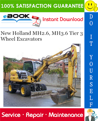 Thumbnail ☆☆ Best ☆☆ New Holland MH2.6, MH3.6 Tier 3 Wheel Excavators Service Repair Manual