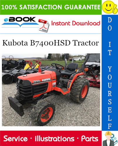 Pay for ☆☆ Best ☆☆ Kubota B7400HSD Tractor Parts Manual