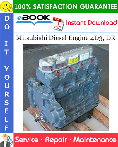 Best  U2606 U2606 Mitsubishi Diesel Engine 4d3  Dr Service Repair