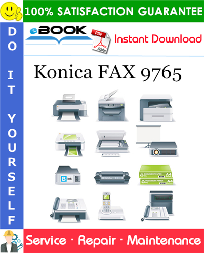 Pay for ☆☆ Best ☆☆ Konica FAX 9765 Service Repair Manual