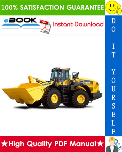 Pay for ☆☆ Best ☆☆ Komatsu WA500-7 Wheel Loader Field Assembly Manual (Serial Number: 10001 and up)