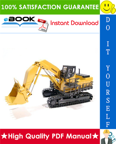 Pay for ☆☆ Best ☆☆ Komatsu PC1100-6, PC1100SP-6, PC1100LC-6 Hydraulic Excavator Service Repair Manual + Field Assembly Manual + Operation & Maintenance Manual (Serial Number: 10001