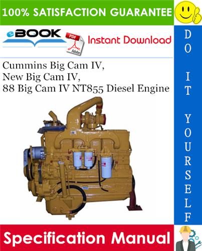 Pay for ☆☆ Best ☆☆ Cummins Big Cam IV, New Big Cam IV, 88 Big Cam IV NT855 Diesel Engine Specifications Manual