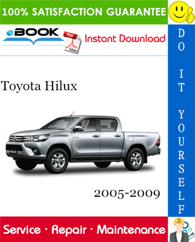 Pay for ☆☆ Best ☆☆ Toyota Hilux Service Repair Manual 2005-2009 Download