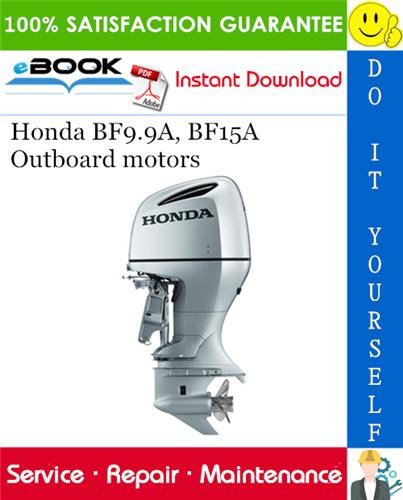 Best  U2606 U2606 Honda Bf9 9a  Bf15a Outboard Motors Service Repair Manual