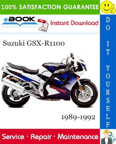 Pay for ☆☆ Best ☆☆ Suzuki GSX-R1100 Motorcycle Service Repair Manual 1989-1992 Download
