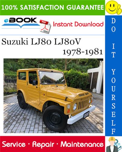 Best  U2606 U2606 Suzuki Lj80 Lj80v Service Repair Manual 1978