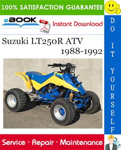 Best ☆☆ Suzuki LT250R ATV Service Repair Manual 1988-1992 ...