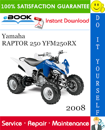 Best  U2606 U2606 2008 Yamaha Raptor 250 Yfm250rx Atv Service Repair