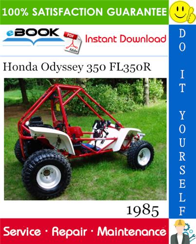 Best  U2606 U2606 1985 Honda Odyssey 350 Fl350r Atv Service Repair Manual