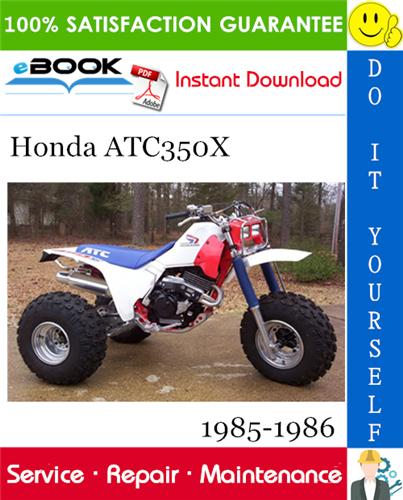 Best  U2606 U2606 Honda Atc350x Service Repair Manual 1985