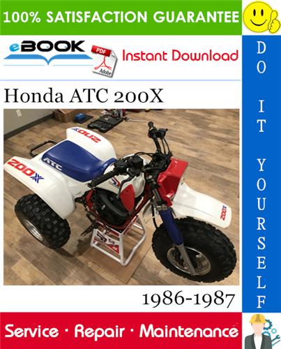 Best  U2606 U2606 Honda Atc 200x Service Repair Manual 1986