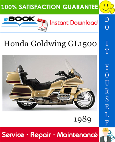 Best  U2606 U2606 1989 Honda Goldwing Gl1500 Motorcycle Service Repair Manual