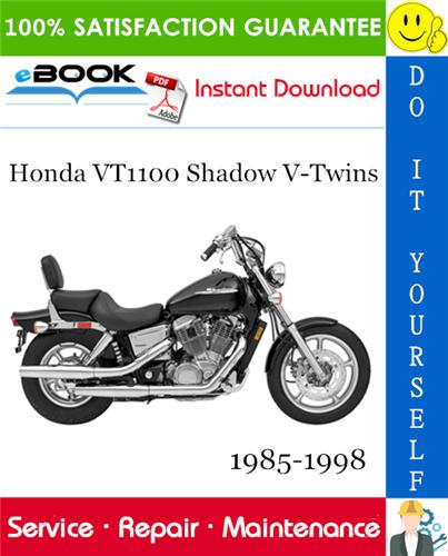 Best  U2606 U2606 Honda Vt1100 Shadow V-twins Motorcycle Service Repair Manual 1985-1998 Download