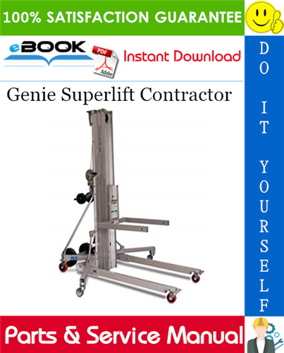 Pay for ☆☆ Best ☆☆ Genie Superlift Contractor Parts & Service Manual