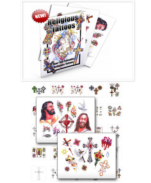 Pay for 100 Religious Tattoo Image Graphic Designs - Pdf Graphics