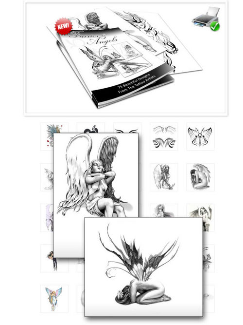 Pay for Over 70 Fairy and Angel Tattoo Image Graphics