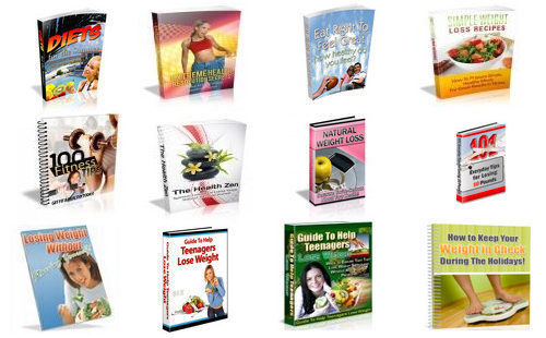 Pay for Collection of 12 Weight Loss eBook Guides with Resell Rights