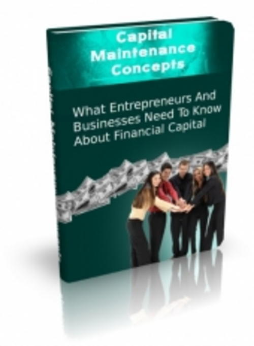 Pay for Capital Maintenance Concepts ( Master Resell Rights )