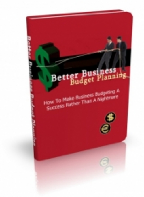 Pay for Better Business Budget Planning ( Master Resell Rights )