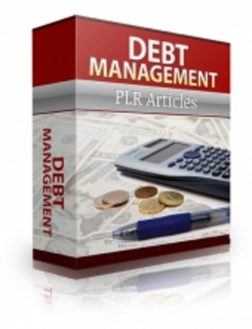 Pay for Debt Management Plr Articles ( Private Label Rights )