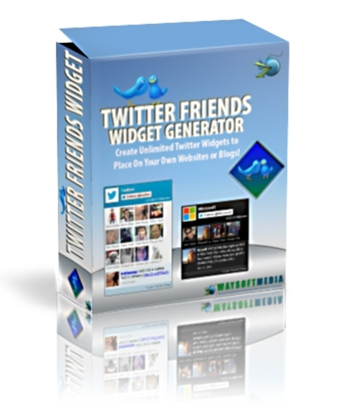 Pay for Twitter Friends Widget   ( Master Resell Rights )
