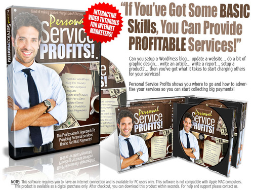 Pay for Personal Service Profits  ( Master Resell Rights )
