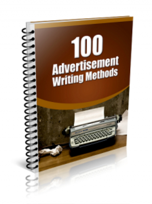 Pay for 100 Advertisement Writing Methods ( MRR )