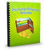 Thumbnail 25 Personal Finance Articles - Oct 2011 (PLR)