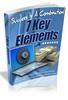 Thumbnail 7 Key Elements to Online Success (PLR)