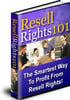 Thumbnail Resell Rights 101 (PLR)