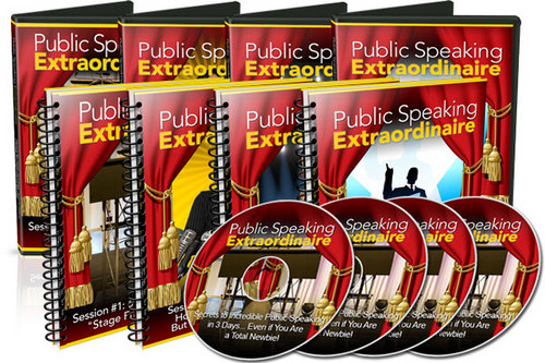 Pay for Public Speaking Extraordinaire - Video Training Series plr