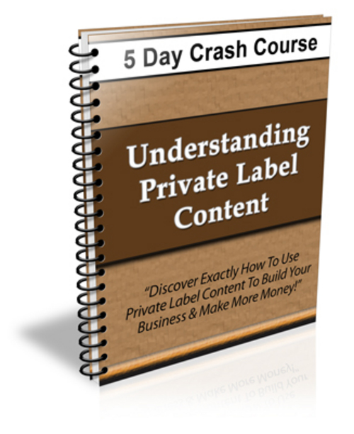 Pay for Understanding Private Label Content - 5 Day eCourse (PLR)